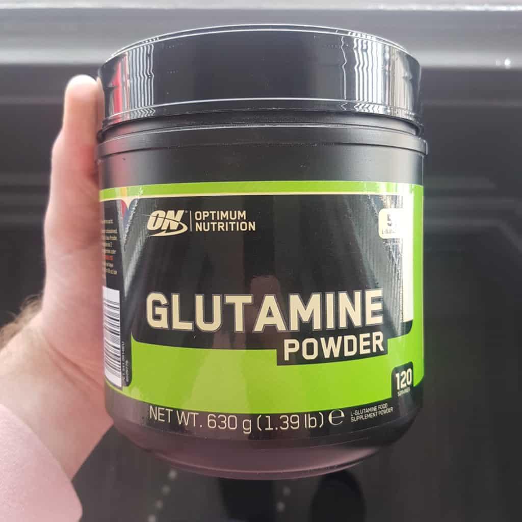 on glutamine powder