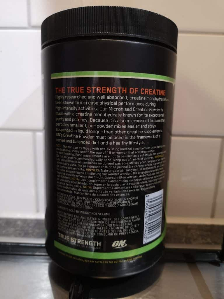 on micronized creatine review